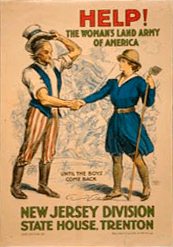 HELP! The Woman's Land ARMY of America. Until the boys come back. New Jersey Division, State House, Trenton.