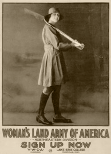 Ohio recruitment poster for Woman's Land ARMY of America.