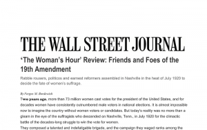 WSJ review of The Woman's Hour by Elaine Weiss.