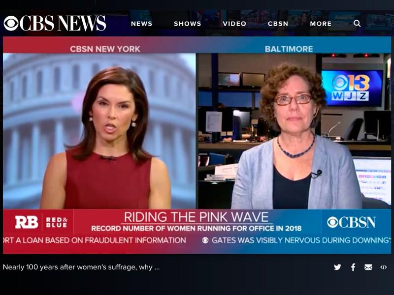 CBS News interview with Elaine Weiss.