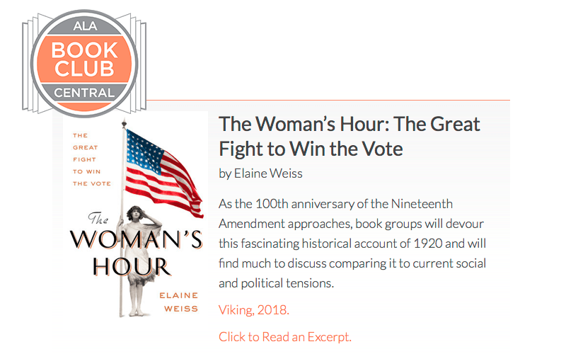 ALA Book Club Central – The Woman's Hour Review.