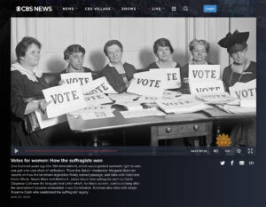 CBS News – Votes for Women: How the Suffragists Won hero image.