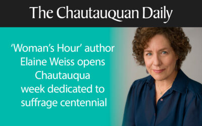 Elaine was the Opening Speaker for the Chautauqua Institution's Suffrage Centennial Week
